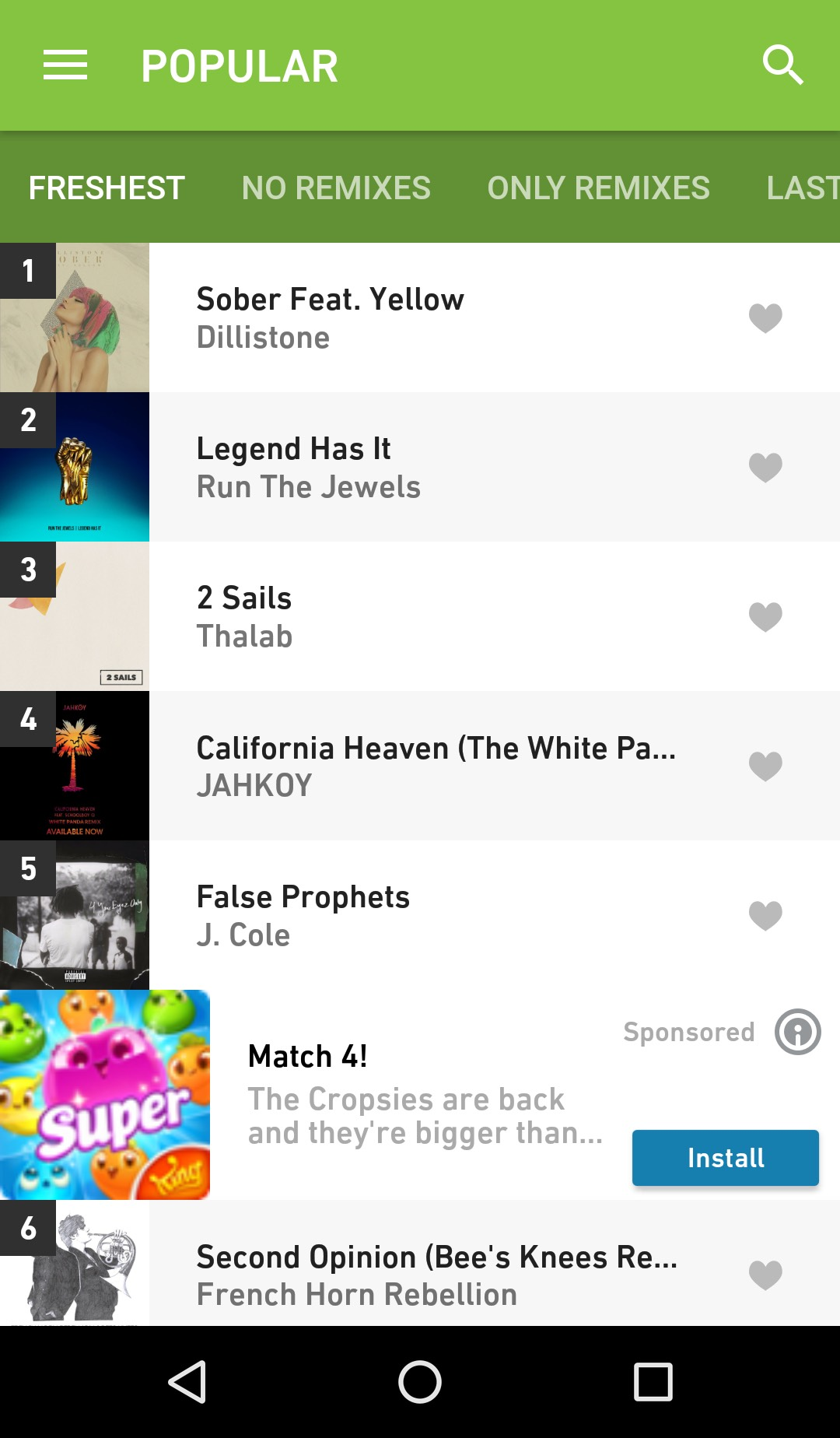 Ads in the Hype Machine Android App [updated] • Hype Machine